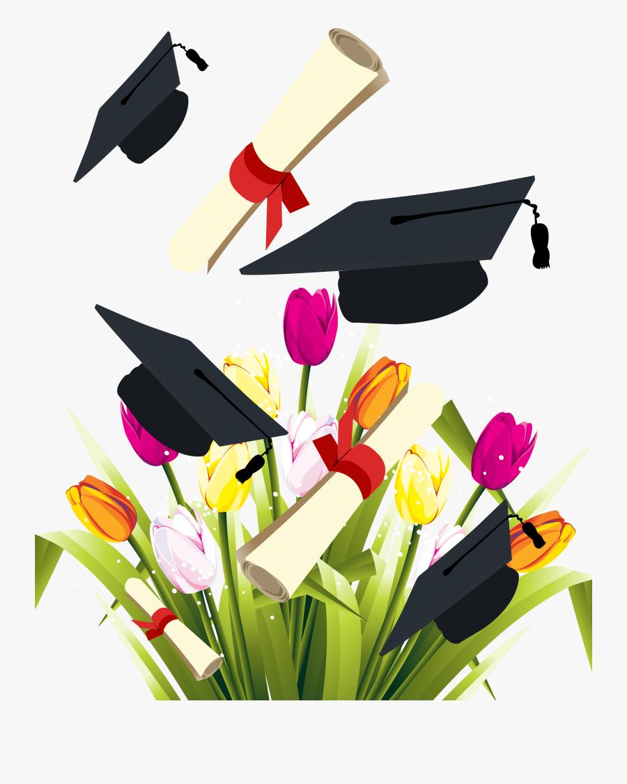 Graduate Clipart Graduation Flower.