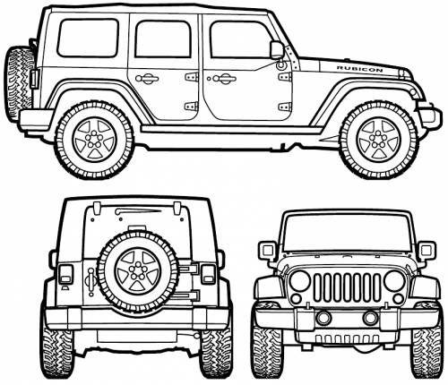 Jeep Wrangler Unlimited (2007) voor kamer Boet.