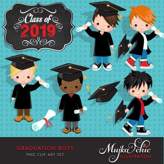 Graduation Clipart. Graduation graphics, cape, scroll, cap.