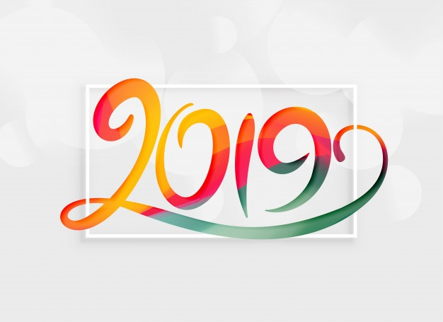 2019 Happy New Year Vectors, Photos and PSD files.