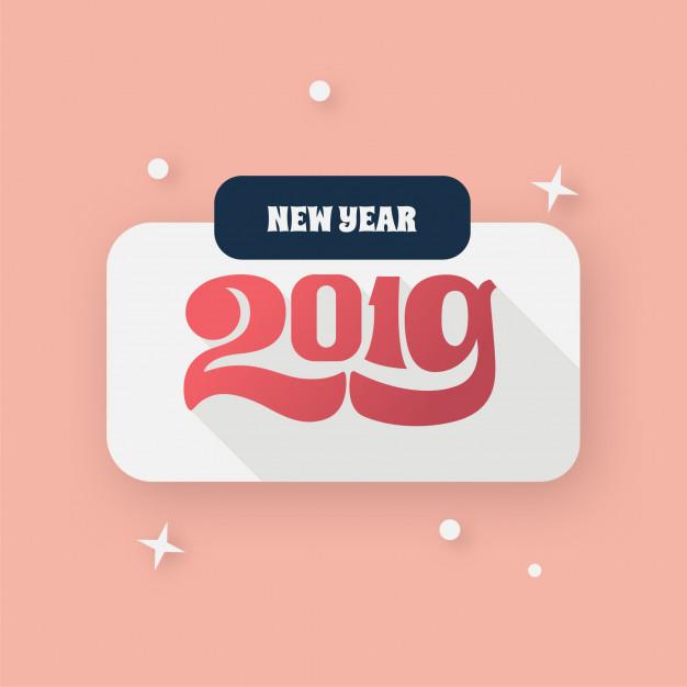 New year 2019 logo Vector.