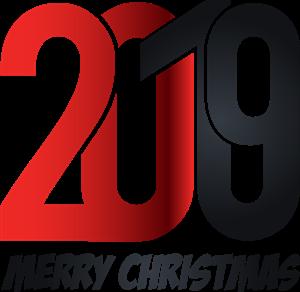 2019 new year typographic design Logo Vector (.EPS) Free.