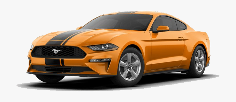 Orange Ford Mustang Png Clipart.