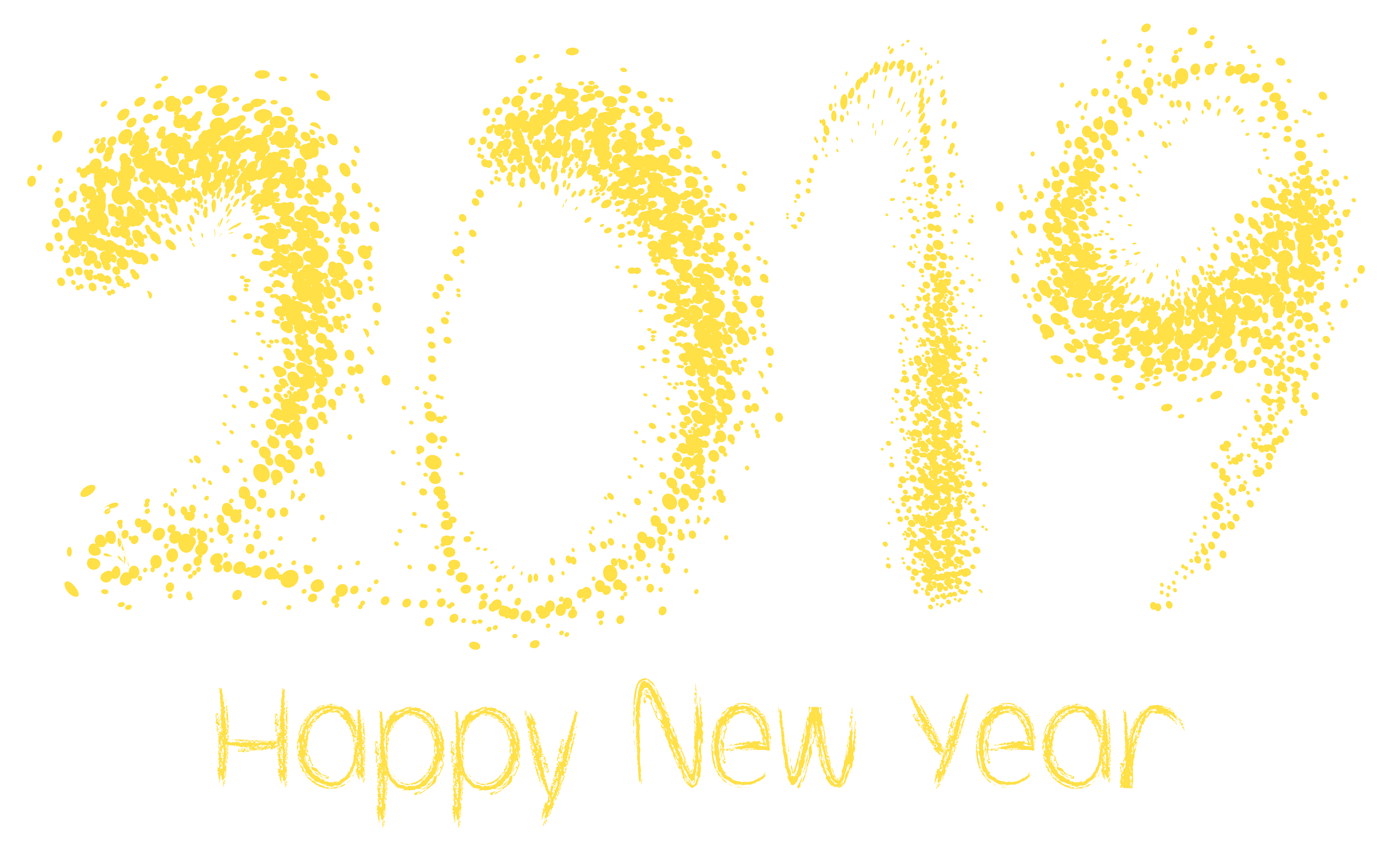 2019 Happy New Year PNG Clipart Image.