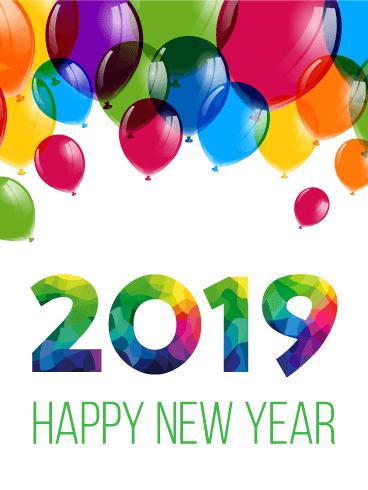 Balloon Happy New Year Clipart.