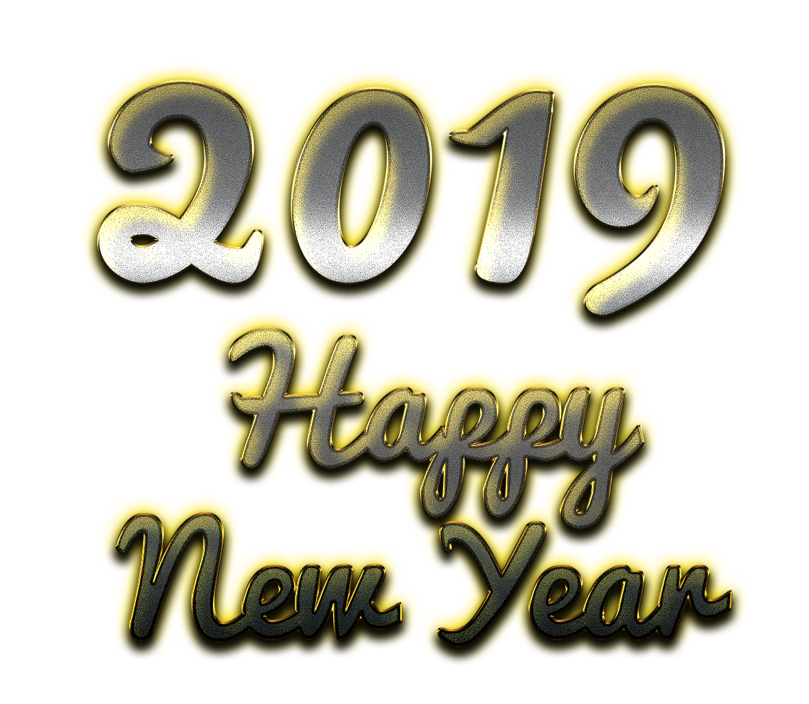 2019 Happy New Year PNG Clipart.