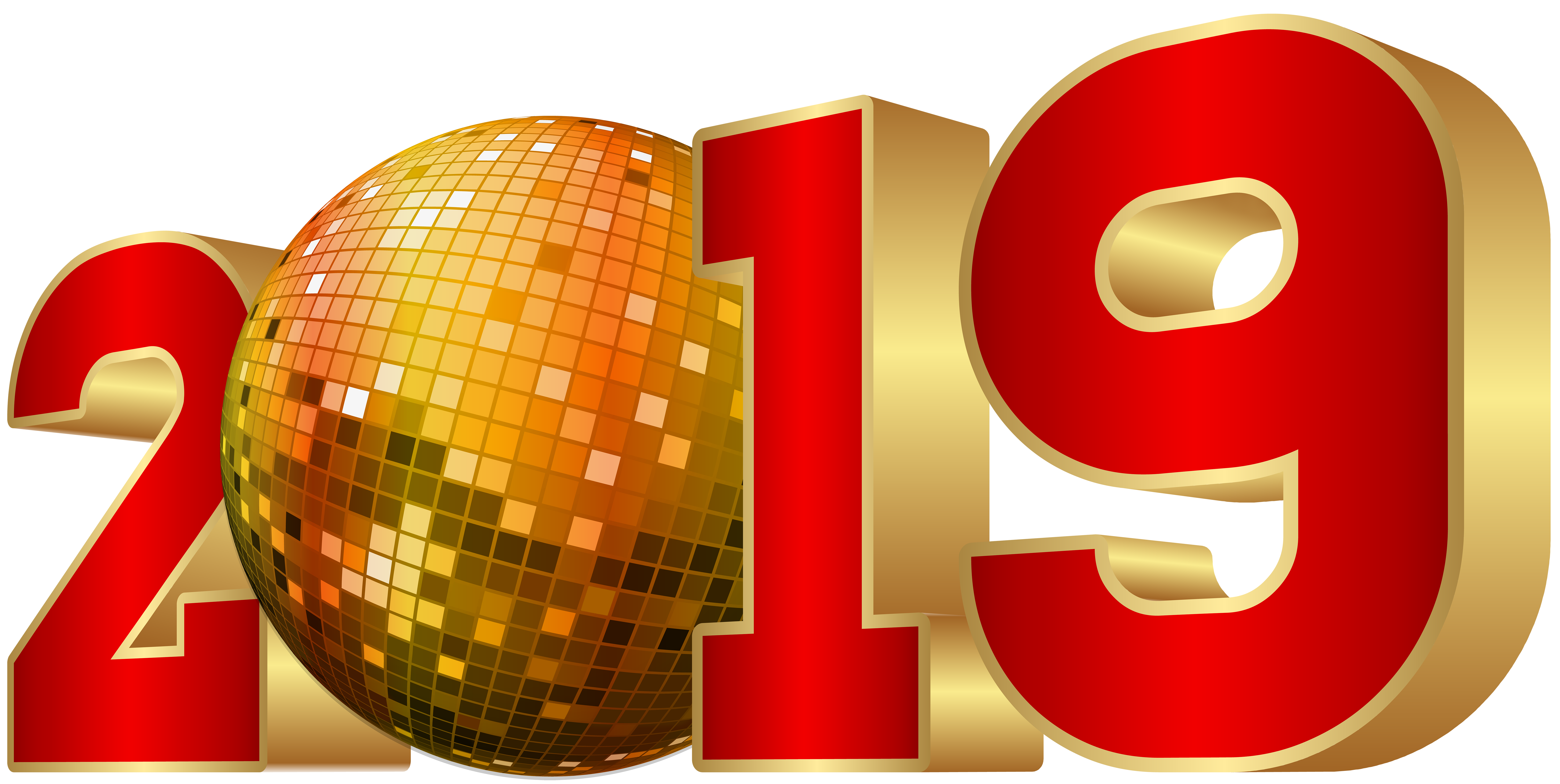 2019 Party New Year PNG Image.