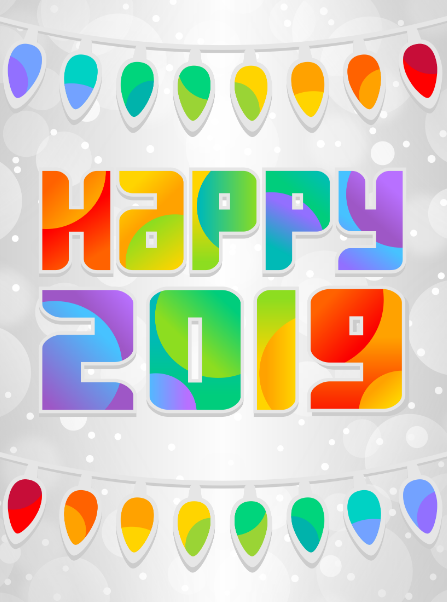 Happy New Year 2019 Clipart, GIF Animated Images For Kids.