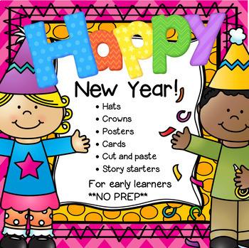 New Year Activities NO PREP for Preschool Pre.