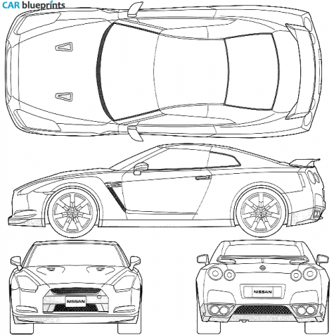 Nissan skyline r35 blueprint #8.