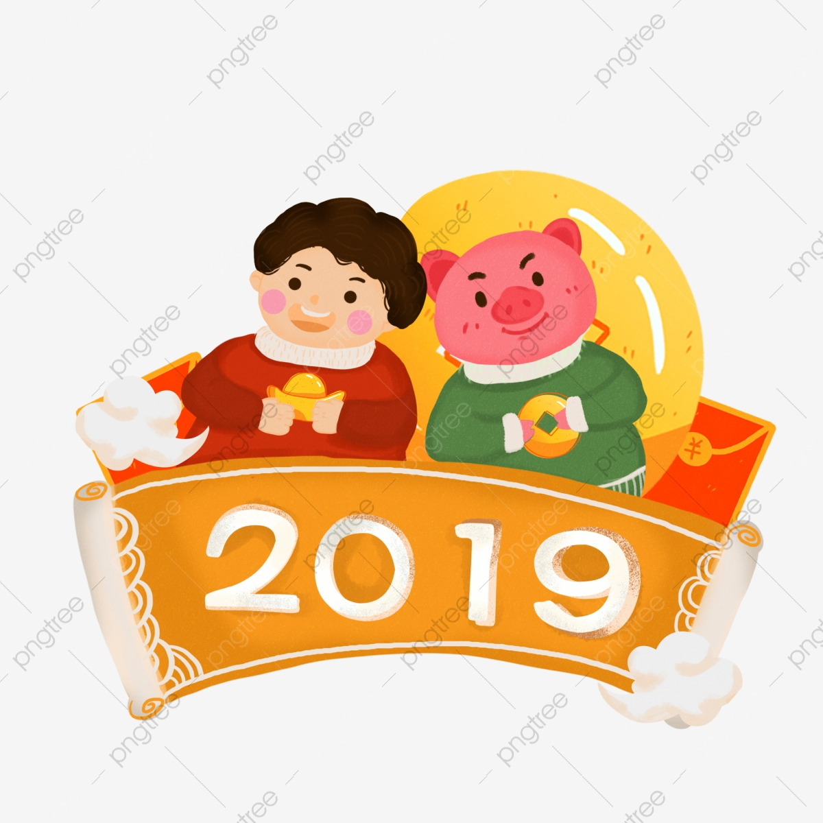 2019 New Year Traditional Festival Chinese Style Cloud.