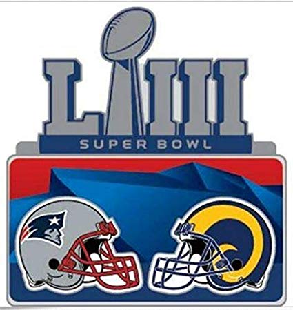 Amazon.com : Football Super Bowl 53 Dueling Teams PIN RAMS.
