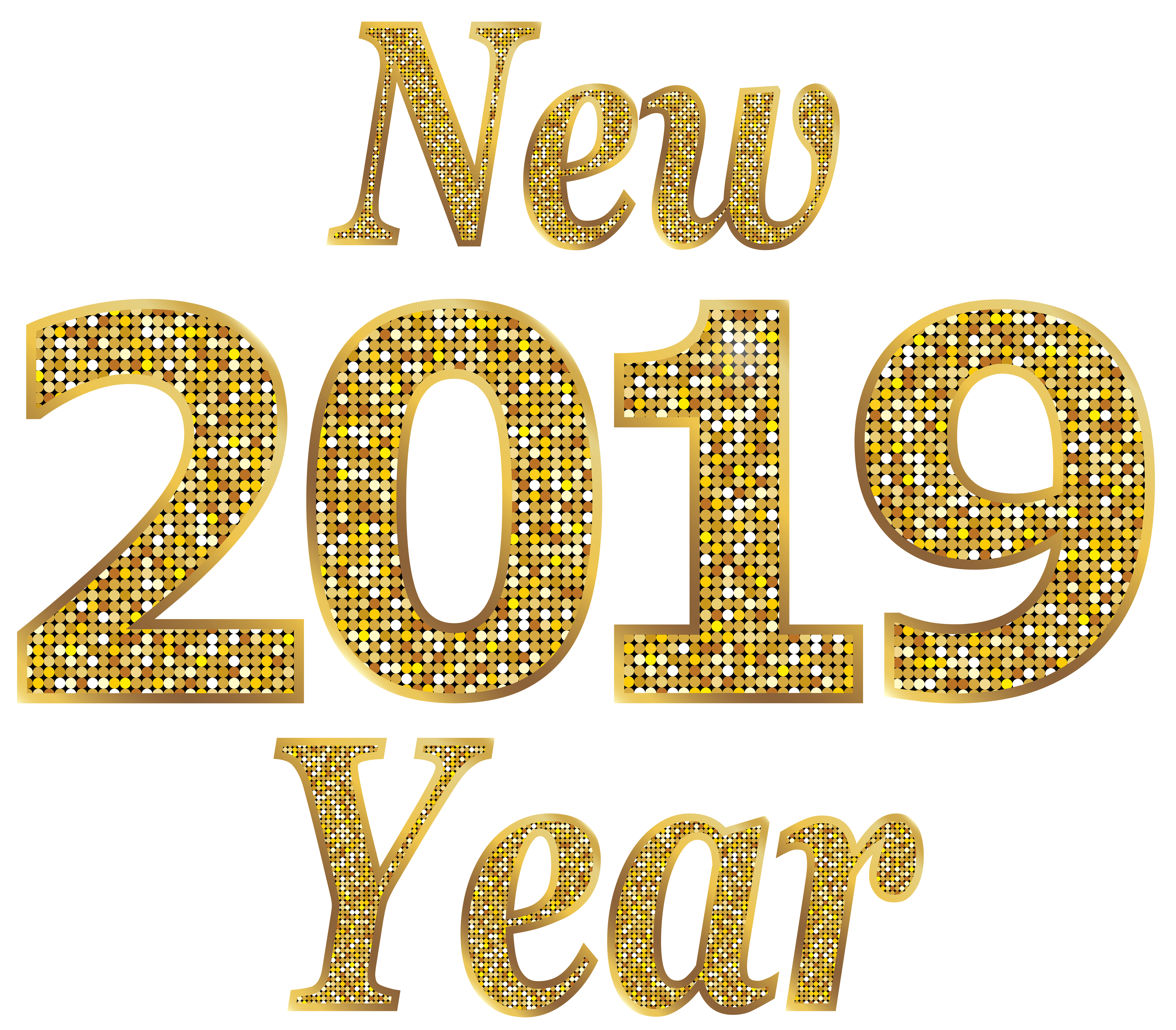 2019 New Year PNG Clip Art Image.