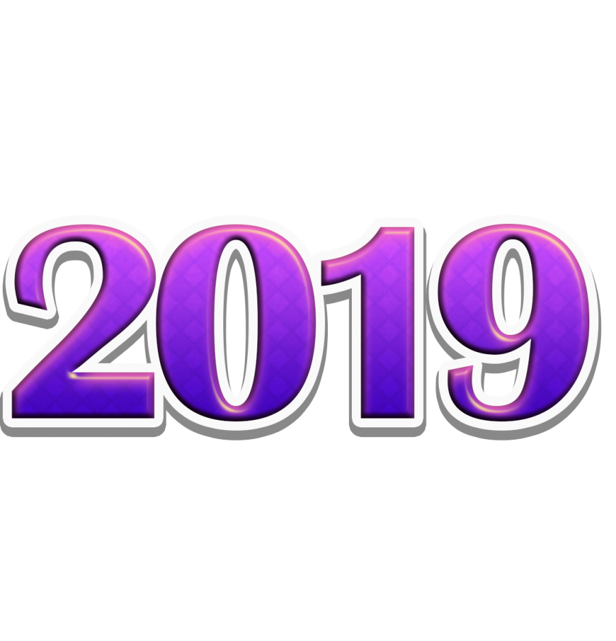 2019 text download free clipart with a transparent.