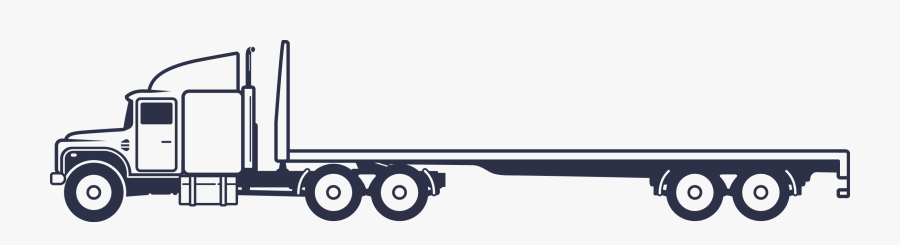 Flatbed Semi Truck Clipart , Free Transparent Clipart.