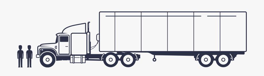 Flatbed Semi Truck Clipart , Transparent Cartoon, Free.