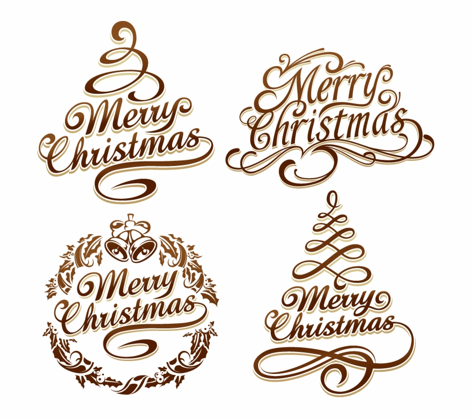 Christmas Curve Text 2019 Vector Free Download Calligraphy.