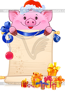 Pig is Symbol of New 2019 Year.