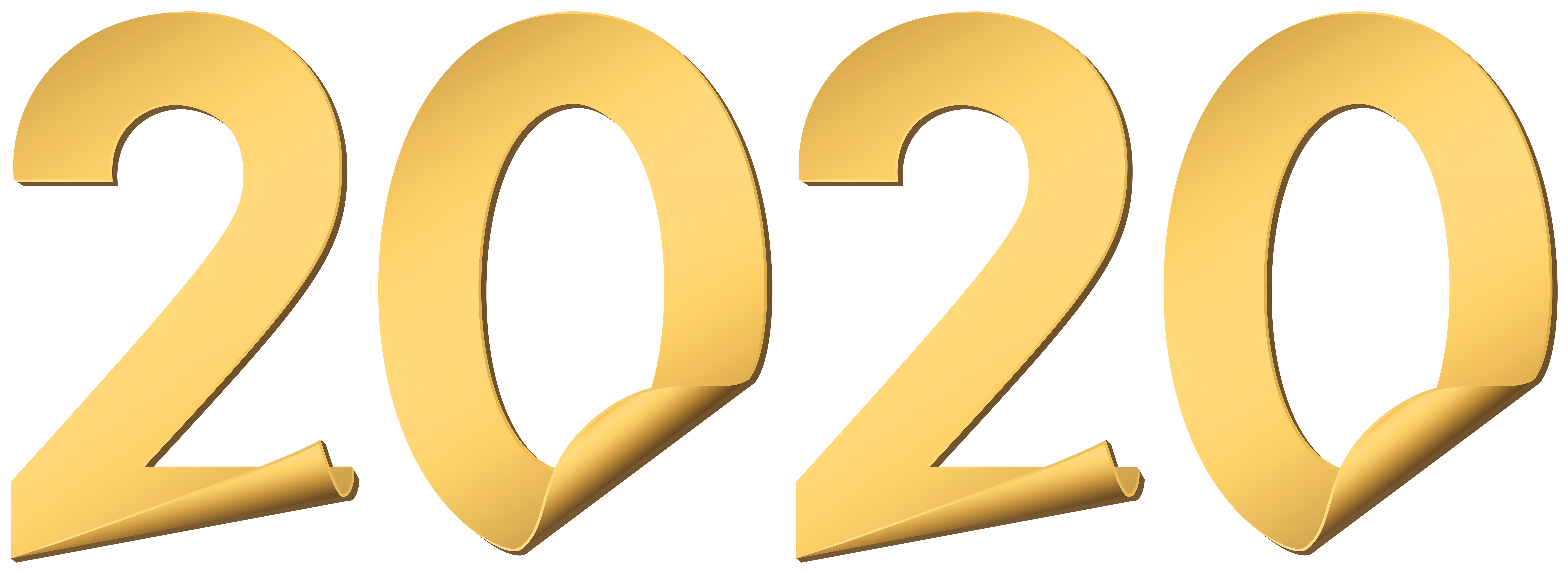 2020 Gold Style PNG Clipart.