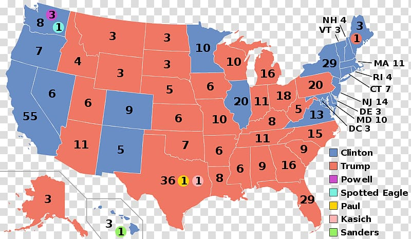 United States of America US Presidential Election 2016.