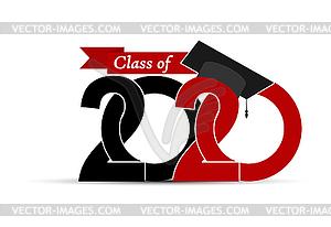 Graduate and Class 2020 with graduate cap.