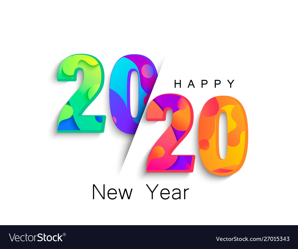 2020 new year colour banner logo for holidays.