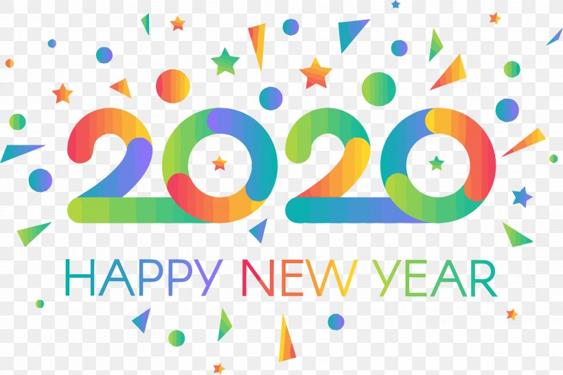 Happy New Year 2020 New Years 2020 2020, PNG, 3532x2359px.
