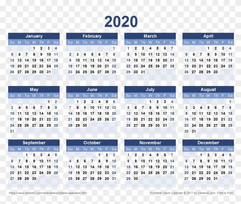 2020 Calendar Free Png Image.
