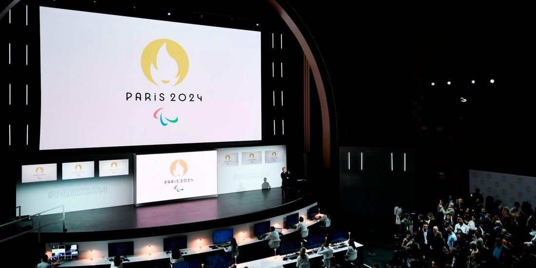 Paris 2024 Summer Olympics logo contains optical illusion.