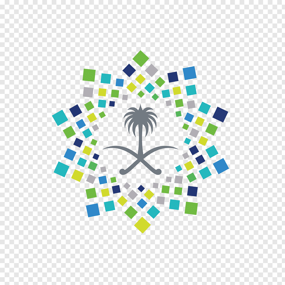 Multicolored wall decor, Saudi Vision 2030 Saudi Arabia Logo.