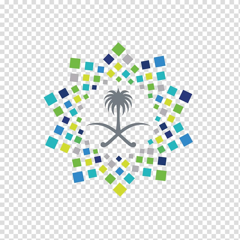 Multicolored wall decor, Saudi Vision 2030 Saudi Arabia Logo.