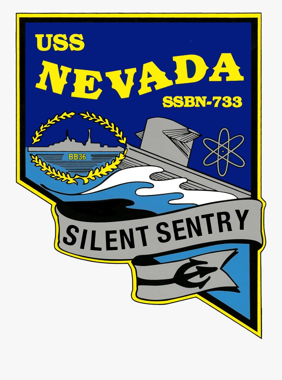 Uss Nevada Ssbn 733 Crest , Free Transparent Clipart.
