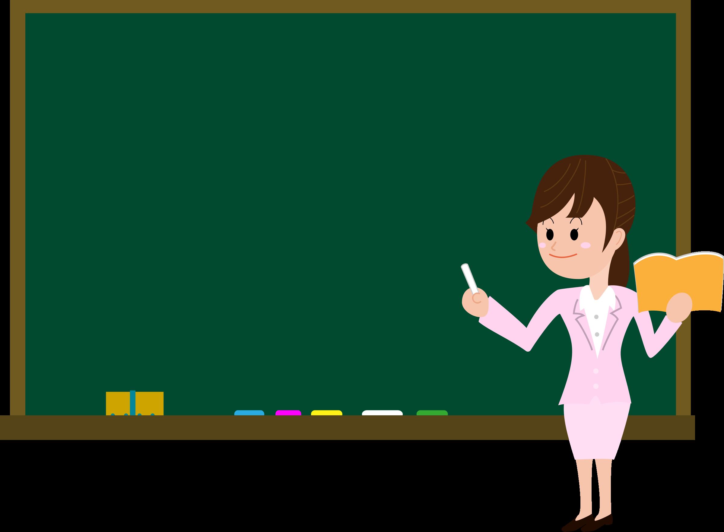 Blackboard Drawing Teacher Blackboard With Teacher Clipart.