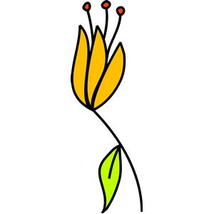 Flower 204 (colour) clipart, cliparts of Flower 204 (colour.
