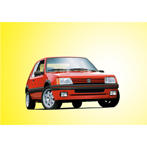 Peugeot 205 GTI clipart, cliparts of Peugeot 205 GTI free.