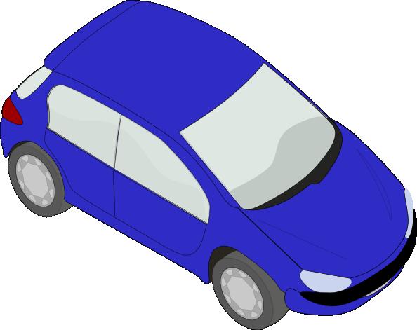 Blue Peugeot 206 clip art Free Vector / 4Vector.