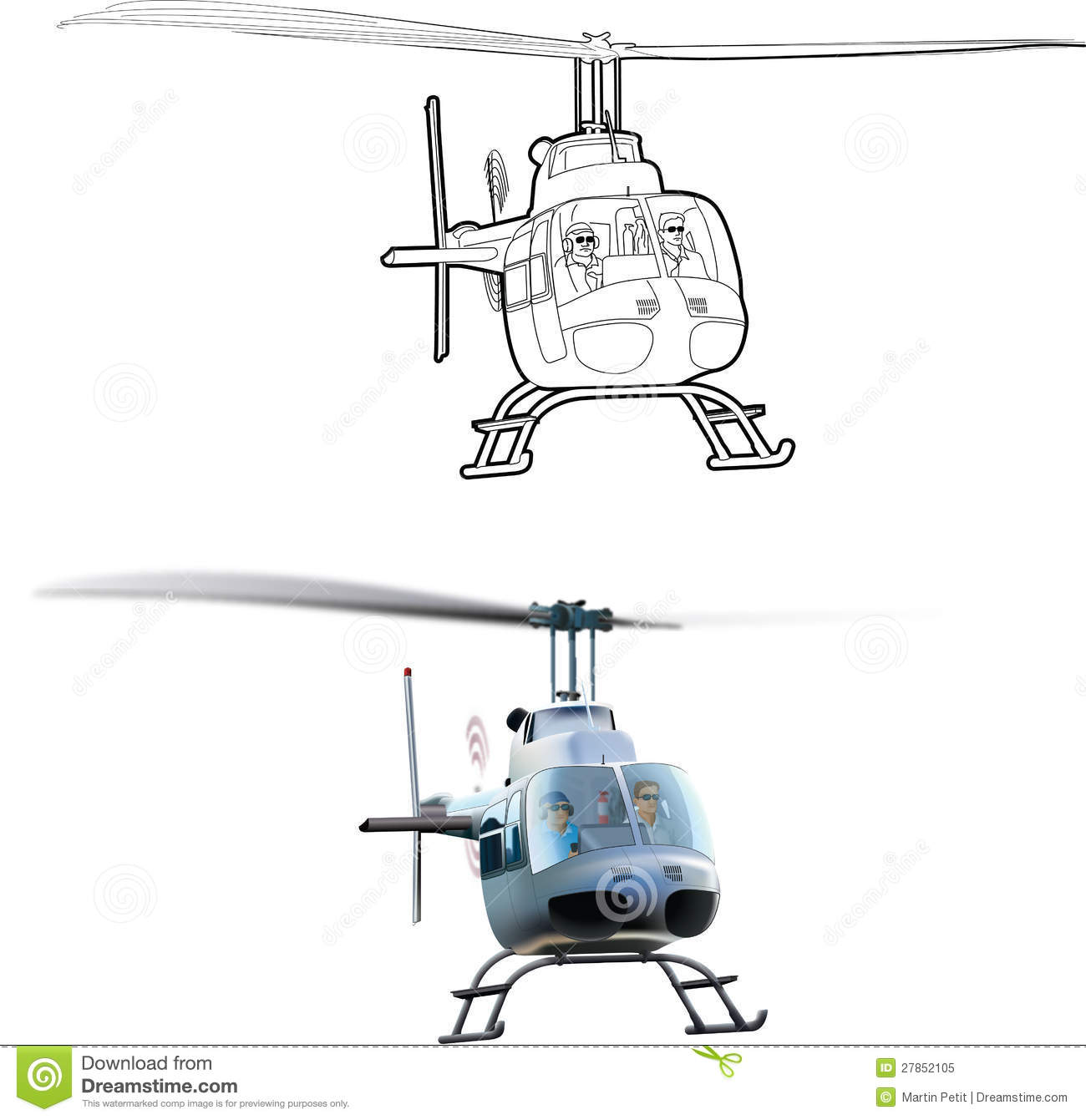 Bell helicopter clipart.