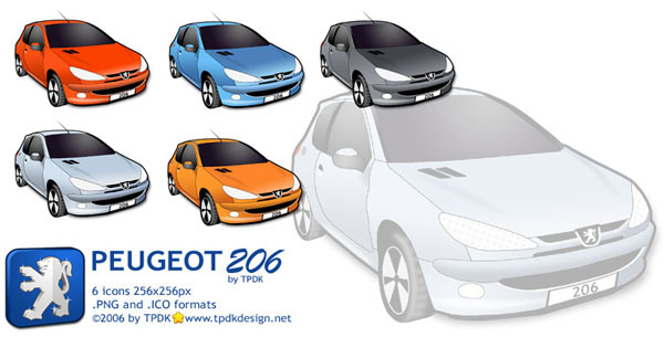 Peugeot 206 Icon Pack.