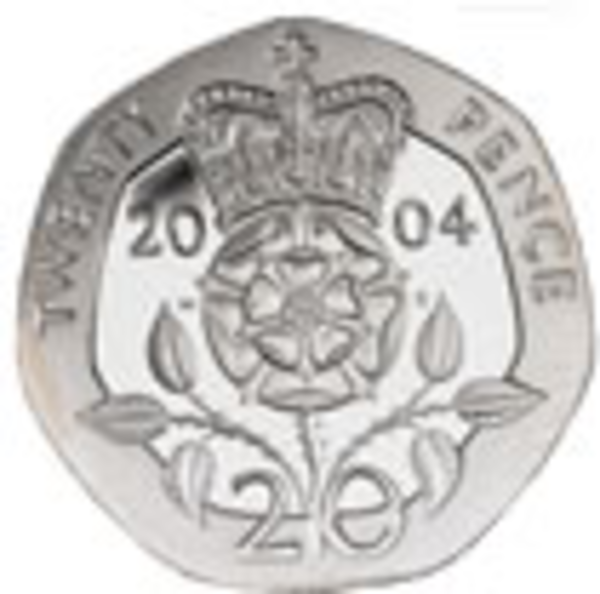 20p coin image cartoon.