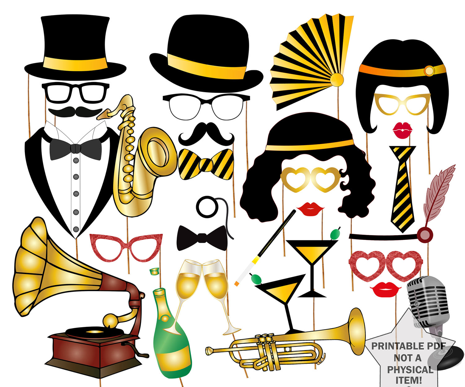 Roaring 20s Clipart Free.