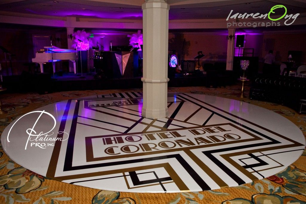Great Gatsby dance floor custom.