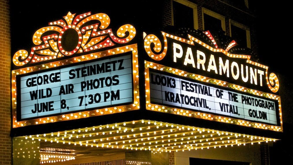 paramount theater marquee in 2019.
