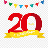 Free 20th Anniversary Clipart and Vector Graphics.