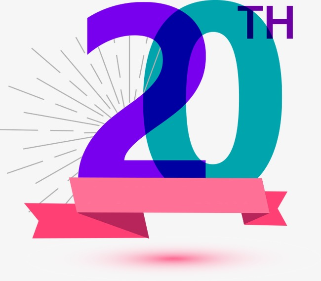 20th Anniversary Png, Vector, PSD, and Clipart With Transparent.