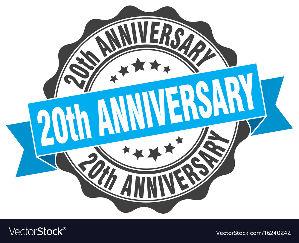20th anniversary stamp sign seal.