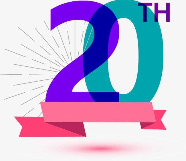 20th Anniversary PNG, Clipart, 20th Clipart, Anniversary.