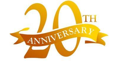 20 Year Ribbon Anniversary.