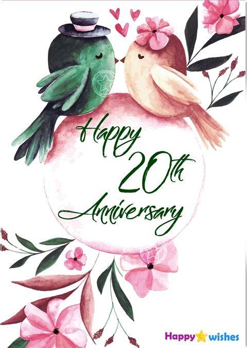Happy 20th Anniversary Wishes.