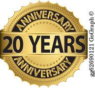 20 Years Anniversary Clip Art.