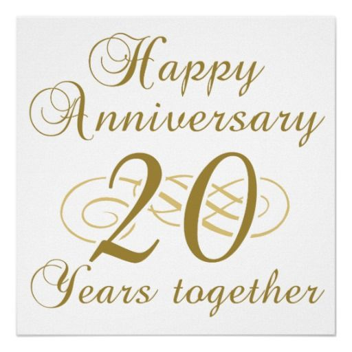 20th Wedding Anniversary Wishes, Messages and Quotes.